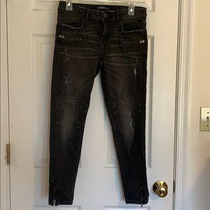 Zara destroyed jeans